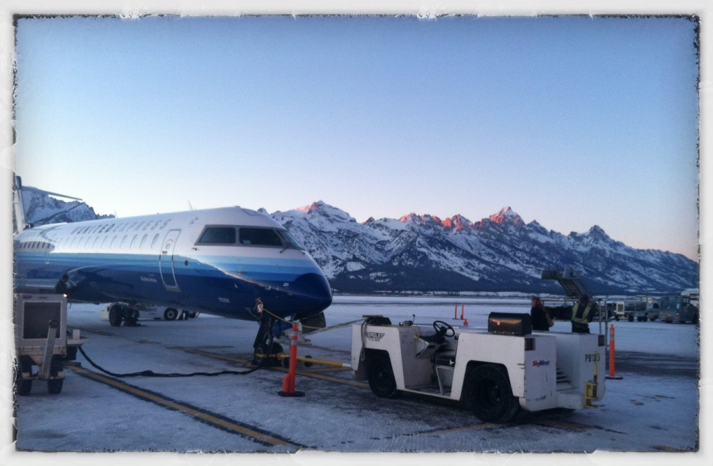 Tetons from the tarmac