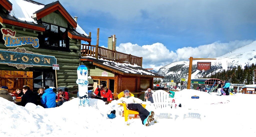 Spring Skiing at Trappers Saloon Banff