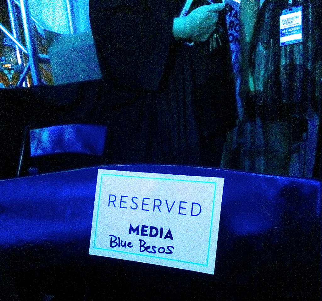 Blue Besos VIP seat