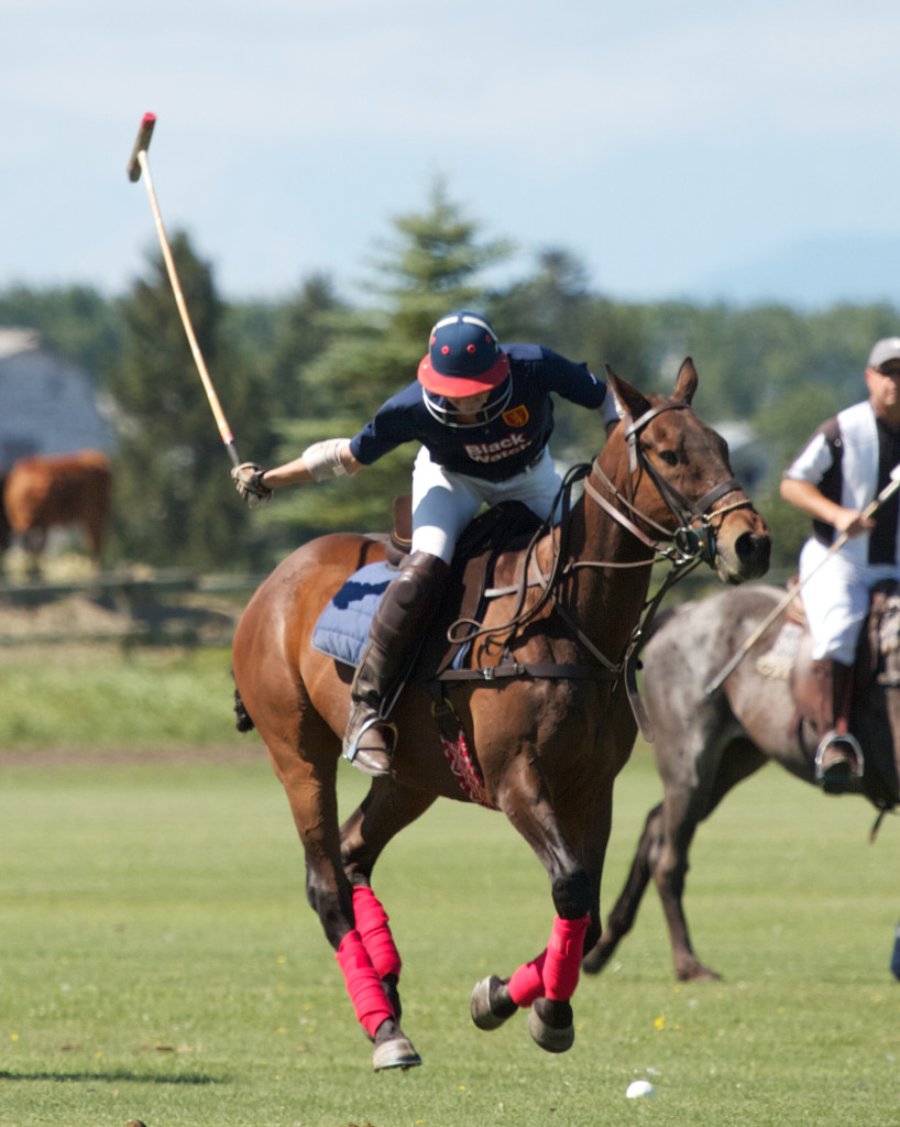 Tiffany Burns playing Simon at Calgary Polo Club