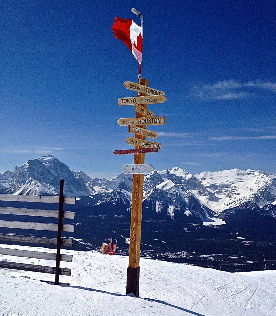 Sign at Top of the World, Lake Louise