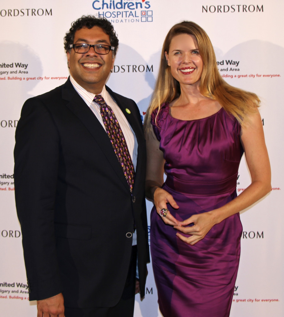 Mayor Naheed Nenshi at Nordstrom with Tiffany Burns