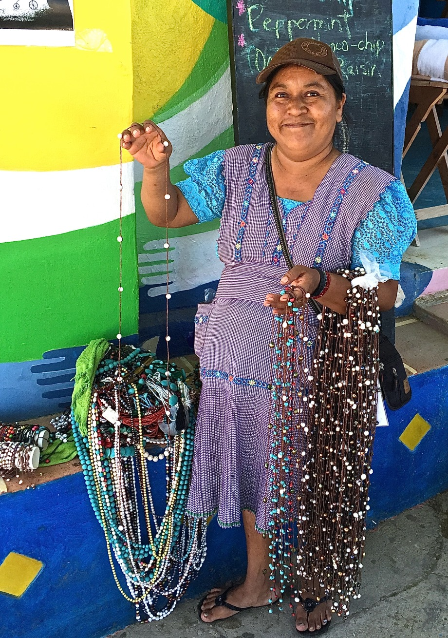 Indigenous jewelry vendor
