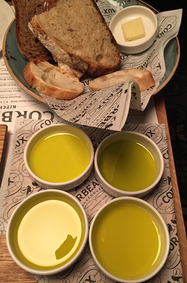 Olive oil tasting at Corbeaux