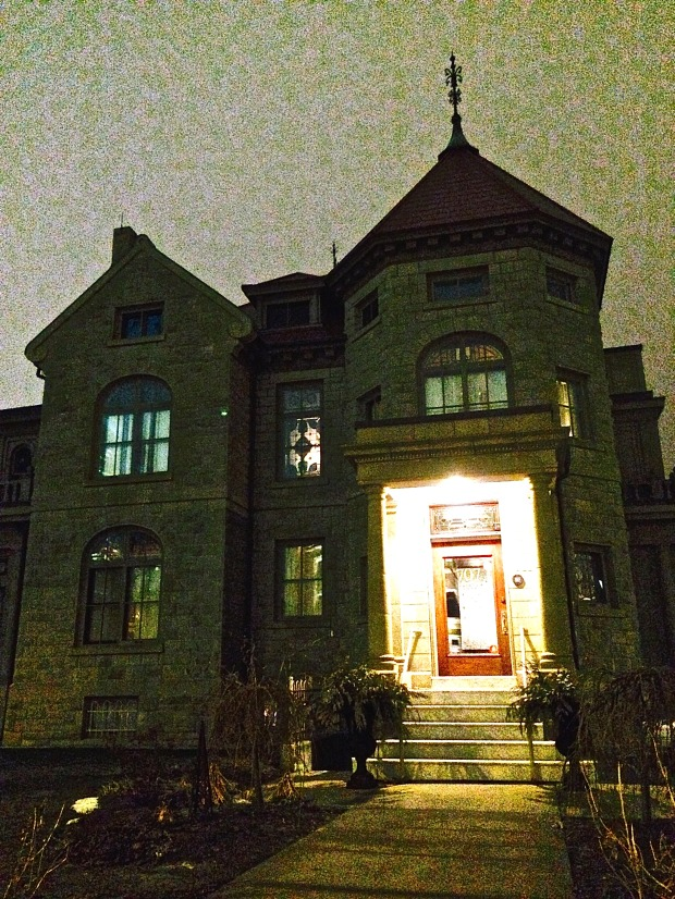Lougheed House at night
