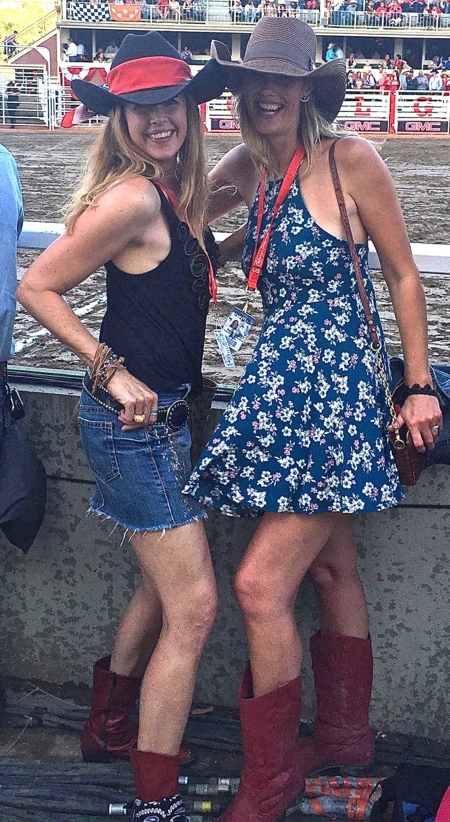 Tiffany Burns and Debbie Emery Calgary Stampede 2015