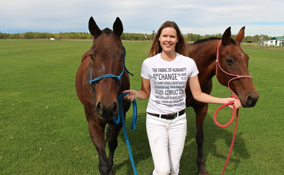 Wearable Philanthropy at Calgary Polo Club
