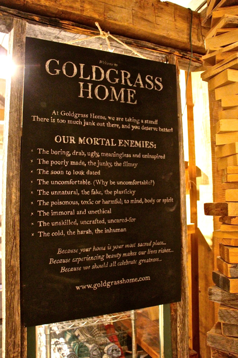 Goldgrass Home Manifesto