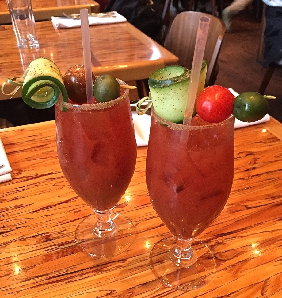 roasted tomato Caesars at Chambar