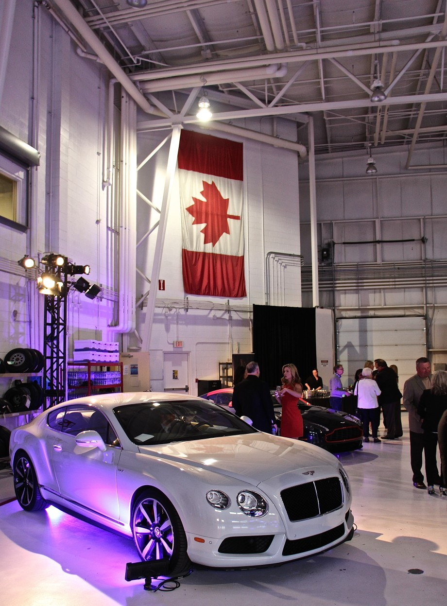 Bentley at AirSprint hangar YYC